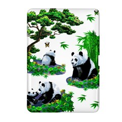 Cute Panda Cartoon Samsung Galaxy Tab 2 (10 1 ) P5100 Hardshell Case  by Simbadda