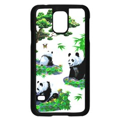 Cute Panda Cartoon Samsung Galaxy S5 Case (black) by Simbadda