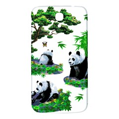 Cute Panda Cartoon Samsung Galaxy Mega I9200 Hardshell Back Case by Simbadda