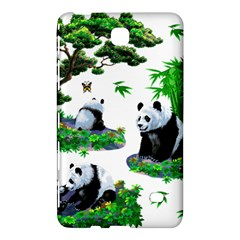 Cute Panda Cartoon Samsung Galaxy Tab 4 (7 ) Hardshell Case  by Simbadda