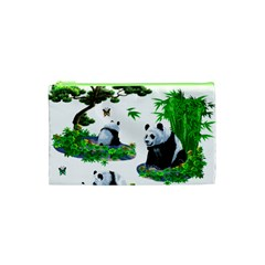 Cute Panda Cartoon Cosmetic Bag (xs) by Simbadda