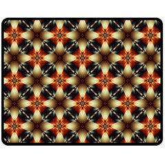 Kaleidoscope Image Background Double Sided Fleece Blanket (medium)