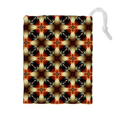 Kaleidoscope Image Background Drawstring Pouches (extra Large) by Simbadda