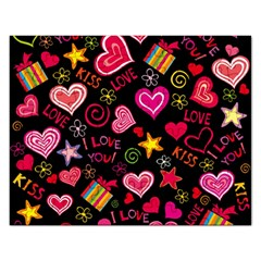 Love Hearts Sweet Vector Rectangular Jigsaw Puzzl by Simbadda