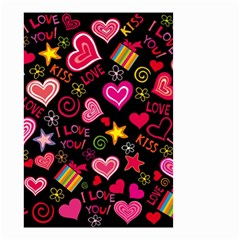 Love Hearts Sweet Vector Small Garden Flag (two Sides) by Simbadda