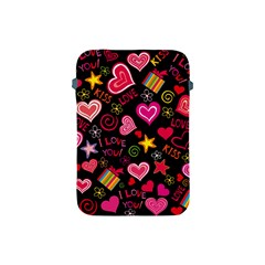 Love Hearts Sweet Vector Apple Ipad Mini Protective Soft Cases