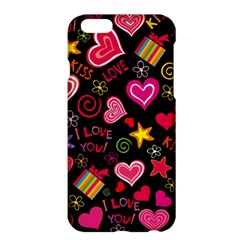 Love Hearts Sweet Vector Apple Iphone 6 Plus/6s Plus Hardshell Case