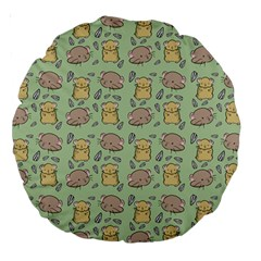 Cute Hamster Pattern Large 18  Premium Round Cushions by Simbadda
