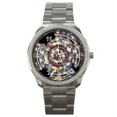 Science Fiction Background Fantasy Sport Metal Watch by Simbadda