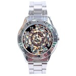 Science Fiction Background Fantasy Stainless Steel Analogue Watch Front