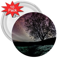 Sky Landscape Nature Clouds 3  Buttons (10 Pack)  by Simbadda