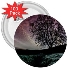 Sky Landscape Nature Clouds 3  Buttons (100 Pack)  by Simbadda