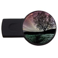 Sky Landscape Nature Clouds Usb Flash Drive Round (2 Gb) by Simbadda