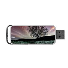 Sky Landscape Nature Clouds Portable Usb Flash (two Sides) by Simbadda