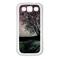 Sky Landscape Nature Clouds Samsung Galaxy S3 Back Case (white) by Simbadda