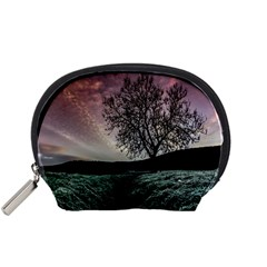 Sky Landscape Nature Clouds Accessory Pouches (small)  by Simbadda