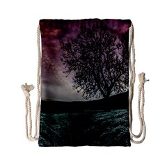Sky Landscape Nature Clouds Drawstring Bag (small)