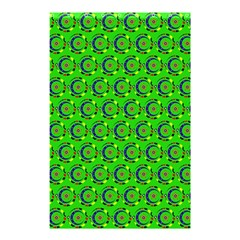 Green Abstract Art Circles Swirls Stars Shower Curtain 48  X 72  (small)  by Simbadda