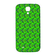 Green Abstract Art Circles Swirls Stars Samsung Galaxy S4 I9500/i9505  Hardshell Back Case by Simbadda