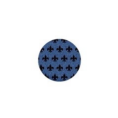 Royal1 Black Marble & Blue Denim 1  Mini Magnet by trendistuff