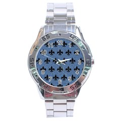 Royal1 Black Marble & Blue Denim Stainless Steel Analogue Watch by trendistuff