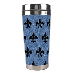 Royal1 Black Marble & Blue Denim Stainless Steel Travel Tumbler by trendistuff