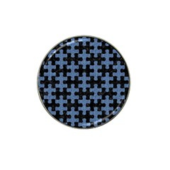 Puzzle1 Black Marble & Blue Denim Hat Clip Ball Marker (10 Pack) by trendistuff
