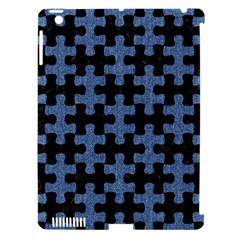 Puzzle1 Black Marble & Blue Denim Apple Ipad 3/4 Hardshell Case (compatible With Smart Cover) by trendistuff