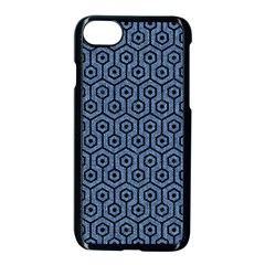 Hexagon1 Black Marble & Blue Denim (r) Apple Iphone 7 Seamless Case (black) by trendistuff