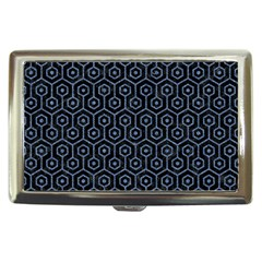 Hexagon1 Black Marble & Blue Denim Cigarette Money Case by trendistuff