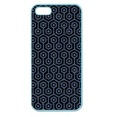 Hexagon1 Black Marble & Blue Denim Apple Seamless Iphone 5 Case (color) by trendistuff