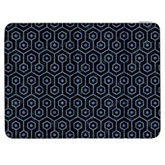 Hexagon1 Black Marble & Blue Denim Samsung Galaxy Tab 7  P1000 Flip Case by trendistuff