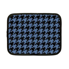 Houndstooth2 Black Marble & Blue Denim Netbook Case (small)