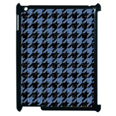 Houndstooth2 Black Marble & Blue Denim Apple Ipad 2 Case (black) by trendistuff