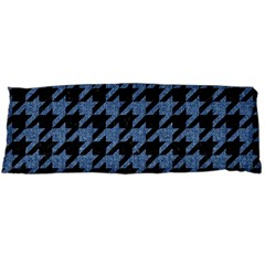 Houndstooth2 Black Marble & Blue Denim Body Pillow Case (dakimakura) by trendistuff