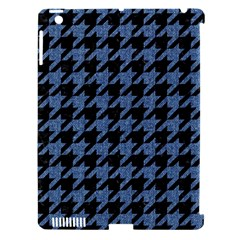 Houndstooth2 Black Marble & Blue Denim Apple Ipad 3/4 Hardshell Case (compatible With Smart Cover) by trendistuff
