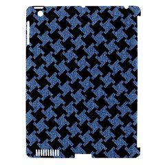 Houndstooth1 Black Marble & Blue Denim Apple Ipad 3/4 Hardshell Case (compatible With Smart Cover) by trendistuff