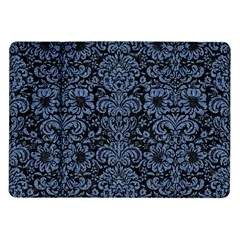 Damask2 Black Marble & Blue Denim Samsung Galaxy Tab 10 1  P7500 Flip Case by trendistuff