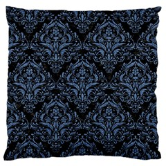 Damask1 Black Marble & Blue Denim Standard Flano Cushion Case (two Sides) by trendistuff
