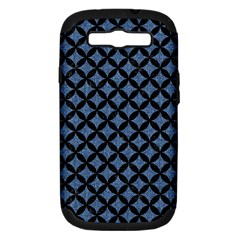 Circles3 Black Marble & Blue Denim (r) Samsung Galaxy S Iii Hardshell Case (pc+silicone) by trendistuff