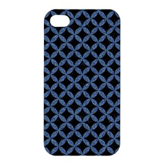 Circles3 Black Marble & Blue Denim Apple Iphone 4/4s Premium Hardshell Case by trendistuff