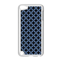 Circles3 Black Marble & Blue Denim Apple Ipod Touch 5 Case (white) by trendistuff