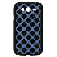 Circles2 Black Marble & Blue Denim (r) Samsung Galaxy Grand Duos I9082 Case (black) by trendistuff