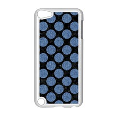 Circles2 Black Marble & Blue Denim Apple Ipod Touch 5 Case (white) by trendistuff