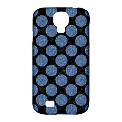 Circles2 Black Marble & Blue Denim Samsung Galaxy S4 Classic Hardshell Case (pc+silicone) by trendistuff