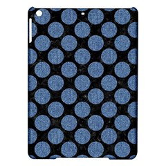 Circles2 Black Marble & Blue Denim Apple Ipad Air Hardshell Case by trendistuff