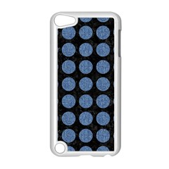 Circles1 Black Marble & Blue Denim Apple Ipod Touch 5 Case (white) by trendistuff