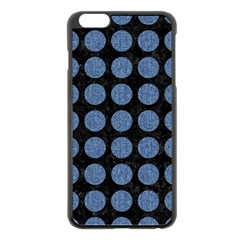 Circles1 Black Marble & Blue Denim Apple Iphone 6 Plus/6s Plus Black Enamel Case by trendistuff
