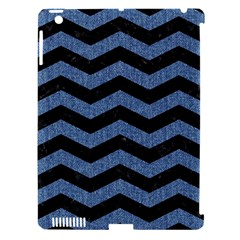Chevron3 Black Marble & Blue Denim Apple Ipad 3/4 Hardshell Case (compatible With Smart Cover) by trendistuff