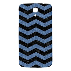 Chevron3 Black Marble & Blue Denim Samsung Galaxy Mega I9200 Hardshell Back Case by trendistuff